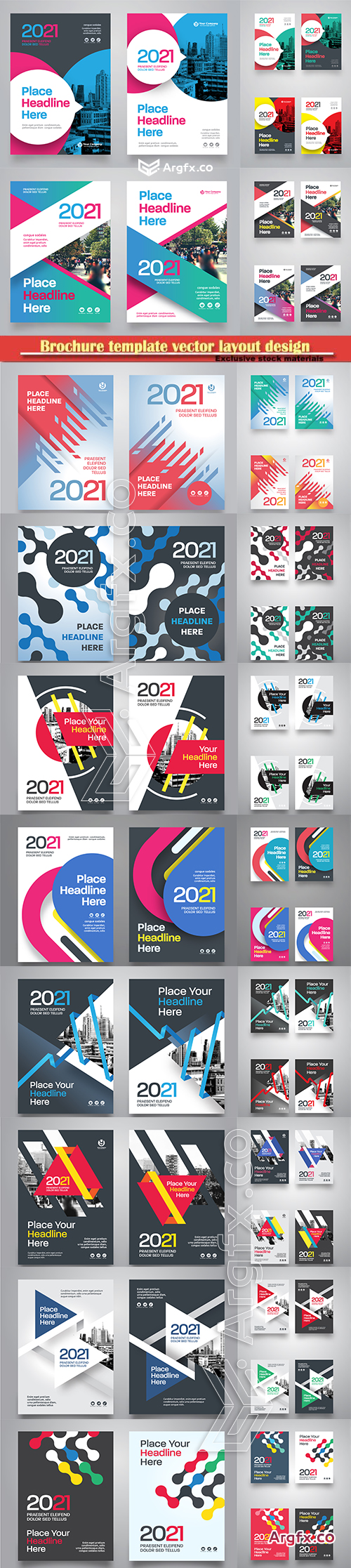 Brochure template vector layout design, corporate business annual report, magazine, flyer mockup # 145