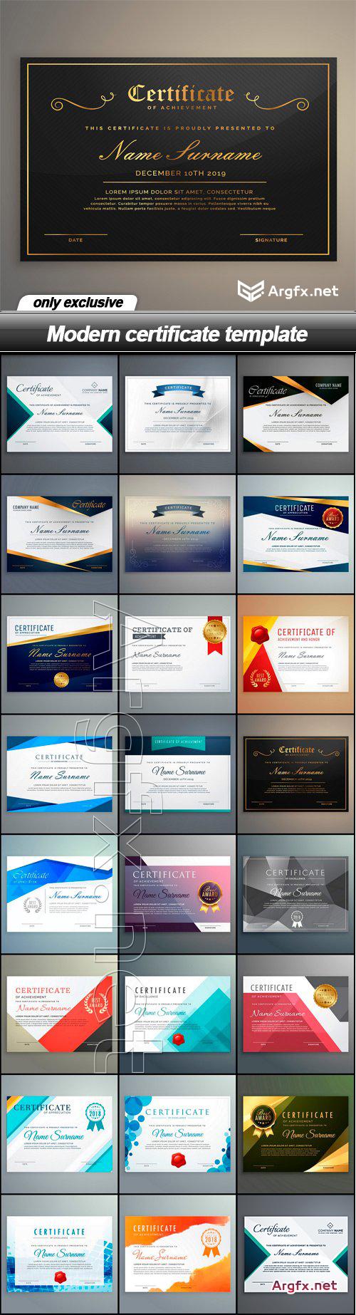 Modern certificate template - 57 EPS