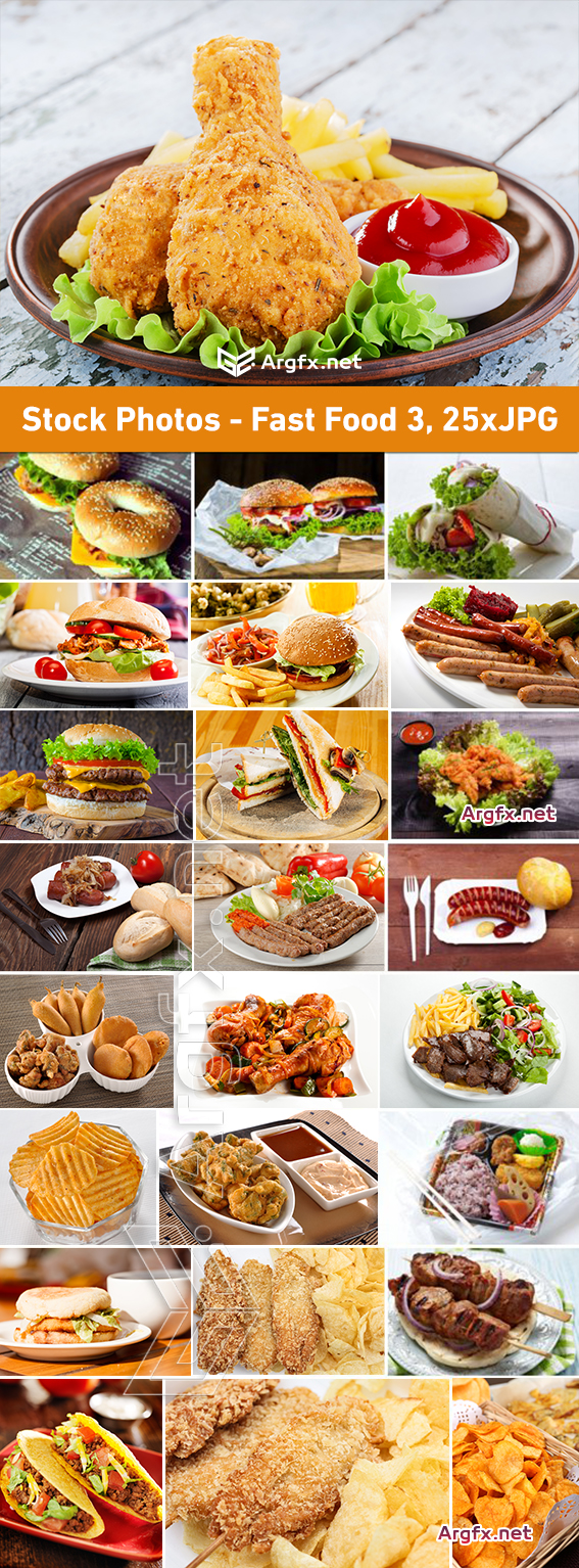 Stock Photos - Fast Food 3, 25xJPG