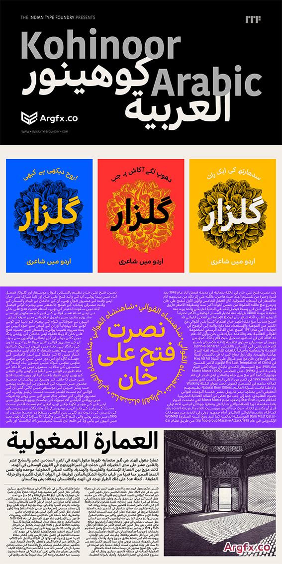 Kohinoor Arabic Font Family $320